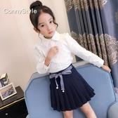 女童洋氣襯衫童裝女秋裝2019新款韓版兒童白色襯身中大童長袖上身