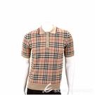 BURBERRY Vintage 美麗諾羊毛格紋Polo衫(中性款/典藏米) 1940396-02