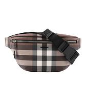 【BURBERRY】Check E-canvas Bum Bag腰包(棕色) 8036559