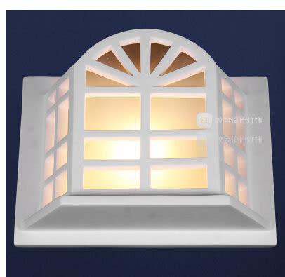 設計師美術精品館汶萊設計燈飾 石膏壁燈過道雕花樓梯床頭現代簡約壁燈 爛漫滿屋
