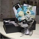 香皂玫瑰花禮盒肥皂花送閨蜜生日禮物女生特別實用小清新【11朵1803天藍 純白】