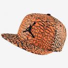 Nike JORDAN SEASONAL SNAPBACK 帽子 藍球 JORDAN  爆裂紋 扣環 可調整 橘 黑 【運動世界】724901-808