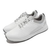 Skechers 高爾夫球鞋 Go Golf Elite 4 Victory 男鞋 白 灰 無釘 皮革 【ACS】 214022-WGY