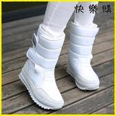雪靴 防水防滑雪地靴女靴中筒短靴厚底加絨雪地鞋棉鞋