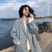 毛呢外套 韓系秋冬休閒短款大衣 花漾小姐【預購】