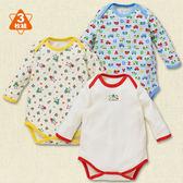 日本西松屋童裝 男寶寶 長袖活肩包屁衣 三件式套裝 紅機器人【NI200250831】