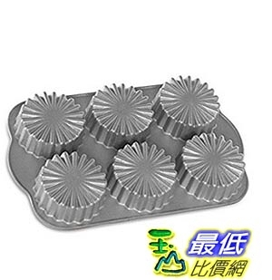 [美國直購]  Nordic Ware Ruffled Medallion Dessert Mold, Metallic 蛋糕模具
