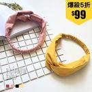 復古甜美素色髮帶-FF-Rainbow【...