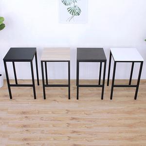 【愛家】木製椅面(鋼管腳)吧台椅/餐椅/高腳椅/洽談椅-四色可選白色