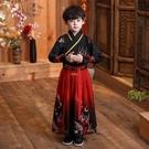 新款男童漢服古風款元旦演出女童漢服仙女裙民族風中國風唐裝 快速出貨
