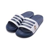 ADIDAS ADILETTE SHOWER 盾牌運動拖鞋 藍白 FW7073 男鞋