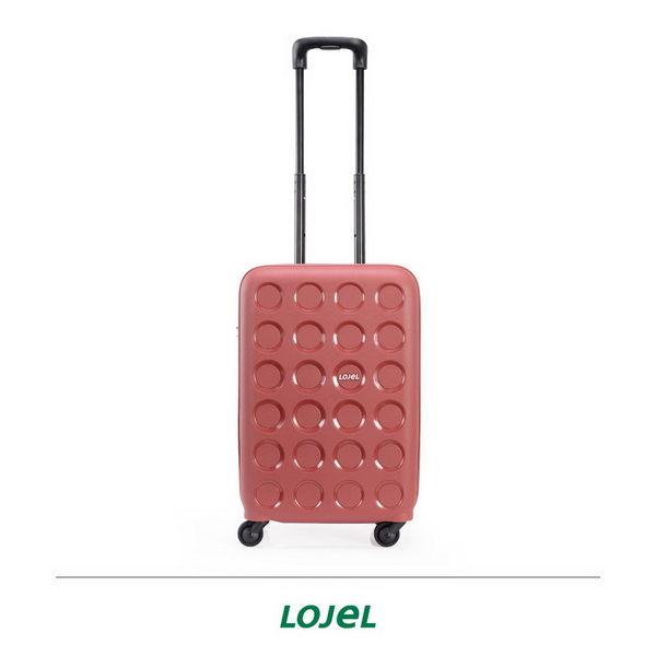 CROWN皇冠 LOJEL VITA PP材質拉鍊 登機箱/旅行箱 19.5吋-酒紅色