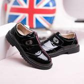 男童皮鞋黑色透氣防滑小皮鞋兒童表演鞋休閒演出鞋 k-shoes
