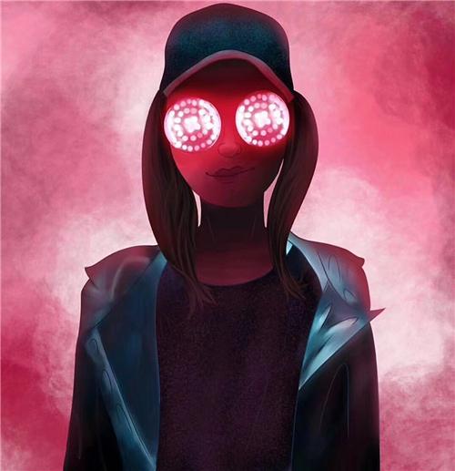 網紅道具 RAVE電音節REZZ同款無線LED發光眼鏡迷幻彩圓圈個性夜店蹦迪墨鏡『快速出貨』