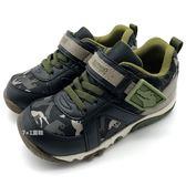 《7+1童鞋》 中童  日本月星  MOONSTAR  鱷魚先生  魔鬼氈  運動鞋 C492  黑色