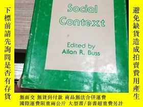 二手書博民逛書店psychology罕見in social context 社會心理學論文集 巴斯的名著Y138791 EdI