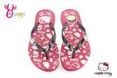 女拖鞋 大童 凱蒂貓 小丸子 夾腳拖鞋 H5815#紅色◆OSOME奧森童鞋