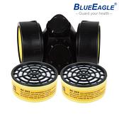 【醫碩科技】藍鷹牌NP-306澳規雙濾罐式防毒口罩搭RC-203濾罐 噴漆烤漆/有機溶劑 1組NP-306*RC-203