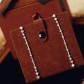 耳環 925純銀鑲鑽銀飾-時尚大方生日情人節禮物女飾品73dy11【時尚巴黎】