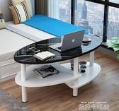 簡約創意北歐現代客廳網紅桌子玻璃茶幾小戶型陽台ins家用圓形桌MQ 依凡卡時尚