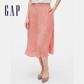 Gap女裝清爽條紋設計休閒長裙593894-粉色碎花