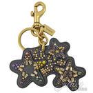 茱麗葉精品【全新現貨】COACH 32995 可愛流星造型皮革鑰匙圈.黑