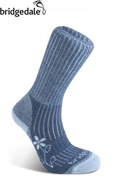 Bridgedale 英國 TK健行者 美麗諾-中厚 女 L 藍 627 登山襪子 健行襪 排汗襪 保暖襪 [易遨遊]