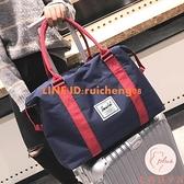 旅行出差帆布健身包大容量行李袋健身便攜短途套【大碼百分百】