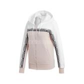 adidas 外套 Tape Track Jacket 粉紅 白 女款 連帽外套 運動休閒 【ACS】 EC0743