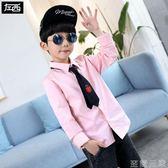 左西童裝男童襯衫兒童長袖襯衣純棉男孩中大童韓版潮春裝新款 至簡元素