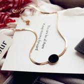 正韓項圈簡約飾品項鍊女款短款鎖骨鍊時尚百搭韓國頸鍊