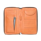 【LILI RADU】德國新銳時尚設計品牌 手工雙色小牛皮時尚手拿多功能手機包 錢包(時尚灰)