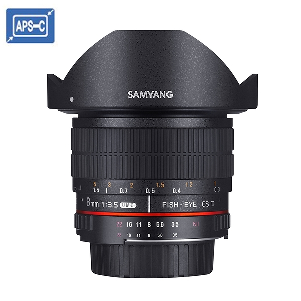 【聖影數位】SAMYANG 三陽 8mm F3.5 UMC Fish-eye CS II APS-C 手動 魚眼鏡頭 (NIKON AE) 公司貨