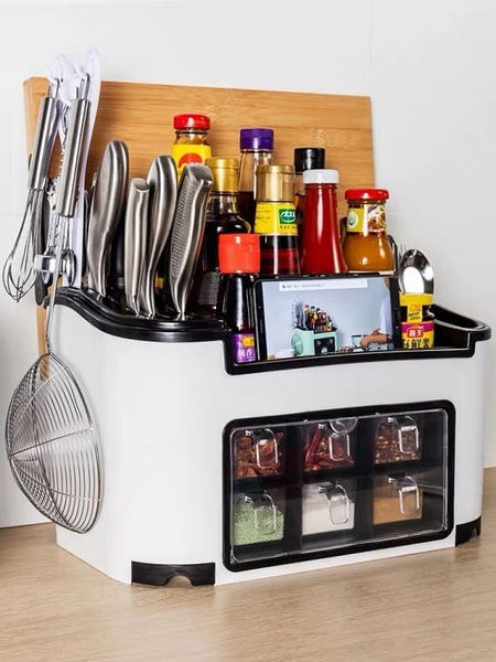 廚房置物架調味料收納盒架子調料架調味品刀架用品油鹽醬醋收納架 NMS 喵小姐