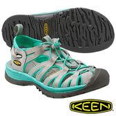 Keen Whisper 女 輕量護趾水陸兩用鞋 淺灰/湖水綠 1014205