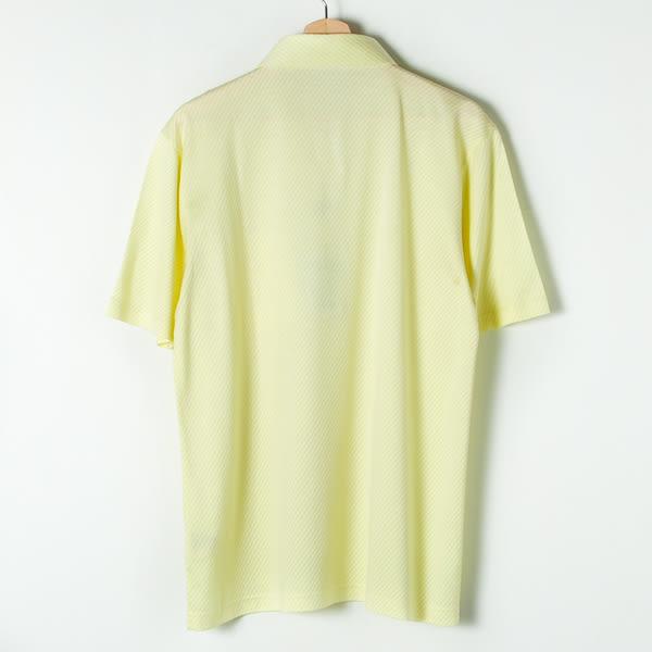 John Duke 經典斜條紋POLO衫-淺黃
