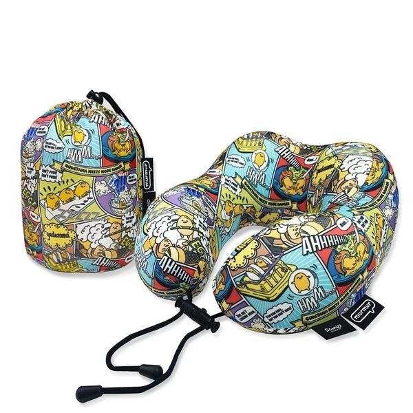 murmur 蛋黃哥卡通 旅行頸枕 記憶頸枕 U型枕 收納U型記憶舒壓頸枕