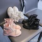女童馬丁靴夏季薄款2021新款黑色鏤空英倫風網面透氣網紗兒童涼鞋 一米陽光
