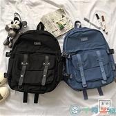 韓版書包女日系復古工裝雙肩包後背包【千尋之旅】