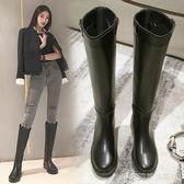 長靴女過膝靴騎士冬季高筒靴加絨皮靴中筒馬靴長筒靴子YYP   琉璃美衣