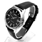 CASIO手錶 黑面刻度日期皮革錶NECK4
