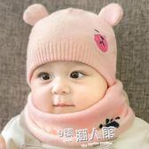 秋冬季嬰兒套頭帽胎帽3-6-12個月寶寶保暖針織毛線帽男女兒童帽子  9號潮人館