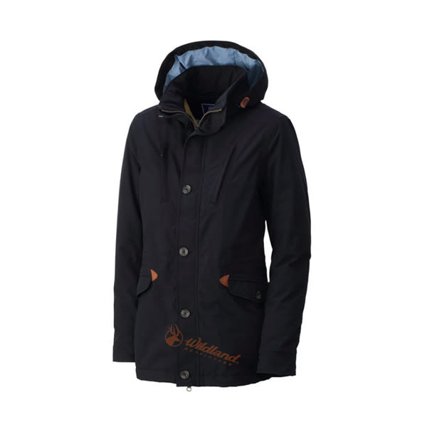[Wildland] 荒野 (女) RE防水PR棉保暖外套 黑 (0A32991-54)