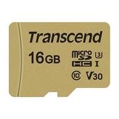 創見 記憶卡 【TS16GUSD500S】 16GB Micro-SD 讀95MB 寫60MB 支援 U3 新風尚潮流