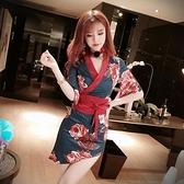女裝連身裙2020新款時尚氣質v領修身包臀和服日系中國風裙子女士