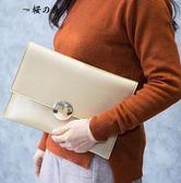 手包女包2018新款簡約信封包韓版個性時尚手拿包百搭錬條大容量包【櫻花本鋪】