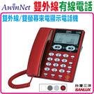 台灣三洋SANLUX雙外線有線電話機...