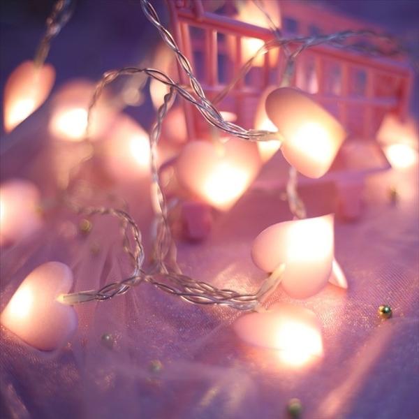 星星小舖 ins 少女心 房間佈置愛心 浪漫 婚禮 愛心usb 燈 拍照道具 燈串 串燈 星星小舖