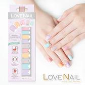 【LOVE NAIL】持久指甲油貼-水鑽珠寶盒系列(繚漾甜心冰鑽Pastel Crystal)