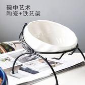 貓碗架保護頸椎狗碗單碗雙碗瓷碗貓碗架傾斜防打翻寵水碗 嬡孕哺